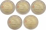 Germania - set 5 monede comemorative 2 euro 2014 (ADFGJ) - Michaeliskirch - UNC, Europa