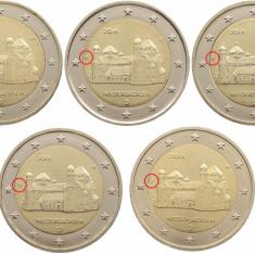 Germania - set 5 monede comemorative 2 euro 2014 (ADFGJ) - Michaeliskirch - UNC