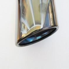 Ornament toba inox PREMIUM 7656B negru crom - Ornamente exterioare auto