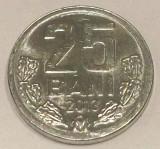 G5. REPUBLICA MOLDOVA 25 BANI 2013, 0,95 g, Al, 17,6 mm UNC **, Europa, Aluminiu