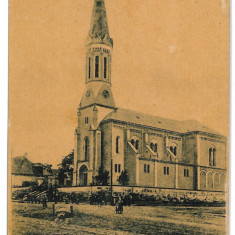 3258 - Satu-Mare, TASNAD, Catholic Church - old postcard - used - 1909 - Carte Postala Maramures 1904-1918, Circulata, Printata