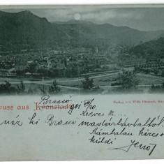 3327 - L i t h o, BRASOV - old postcard - used - 1901 - Carte Postala Transilvania pana la 1904, Circulata, Printata