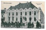 3245 - SIGHET, Maramures, Market, carriages - old postcard, CENSOR - used