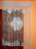 PERDEA FRANJURI ALBASTRU PAL CU FLORI MODEL NOU-LUX  1,05M / 1,5m