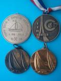 Lot 4 medalii mari de navigare, 100 roni intregul lot, taxele postale zero roni