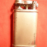 Bricheta veche cu brat mobil, h= 6 cm, metal argintat, personalizat Alex Bog - Bricheta de colectie