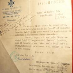 Adresa antet OETR 1936 catre Dr.T.Dumitrescu -redactare Manualul Samariteanului - Hartie cu Antet