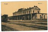 3242 - Vrancea, FOCSANI, Railway Station - old postcard - unused, Necirculata, Printata