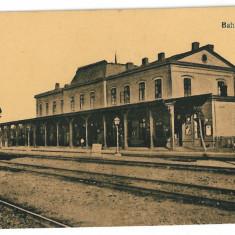 3242 - Vrancea, FOCSANI, Railway Station - old postcard - unused - Carte Postala Moldova 1904-1918, Necirculata, Printata
