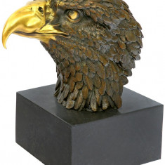 VULTUR - BUST DIN BRONZ PE SOCLU DIN MARMURA - Sculptura