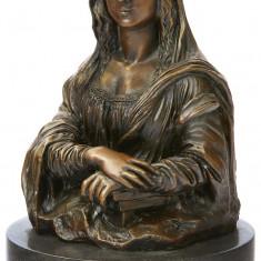 MONALISA - BUST DIN BRONZ PE SOCLU DIN MARMURA - Sculptura