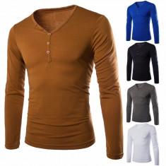 Bluza Helanca, model gen ZARA bumbac, maro-galben, barbateasca model deosebit, NOU - Bluza barbati, Marime: Masura unica, Culoare: Din imagine