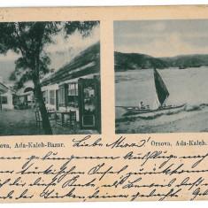 3307 - L i t h o, ORSOVA, Ada-Kaleh - old postcard - used - 1899 - Carte Postala Oltenia pana la 1904, Circulata, Printata