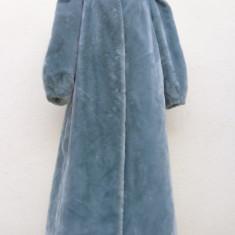 Mantou /Palton lung din blana ecologica - haina de blana