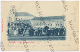 3286 - Litho, Bihor, SALONTA, Market, SYNAGOGUE - old postcard - used - 1900