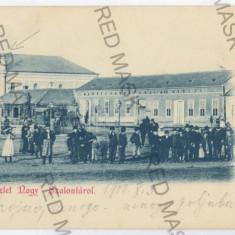 3286 - Litho, Bihor, SALONTA, Market, SYNAGOGUE - old postcard - used - 1900 - Carte Postala Crisana pana la 1904, Circulata, Printata