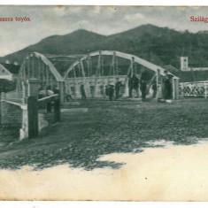 3267 - Salaj, SIMLEUL SILVANIEI, bridge - old postcard - used - 1908 - Carte Postala Crisana 1904-1918, Circulata, Printata