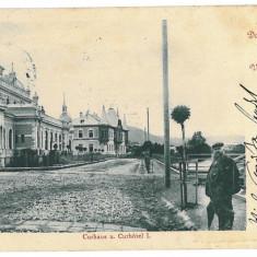 3235 - Bukowina, Suceava, VATRA DORNEI - old postcard - used - 1904 - Carte Postala Bucovina 1904-1918, Circulata, Printata