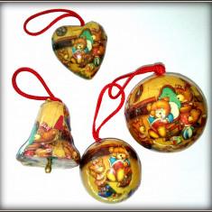 Ornamente Craciun - Globuri vintage Teddy Bear - 20 bucati - Globuri brad