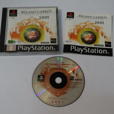 Joc consola Sony Playstation 1 PS1 PS One - Rolland Garos French Open 2001, Actiune, Toate varstele, Single player