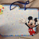 Tabla de carton reutilizabila, tablita scriere cu Mickey Mouse, se agata - Joc board game