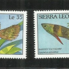 F 20 - PESTI SIERRA LEONE - SERIE NESTAMPILATA - Timbre straine