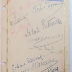 MENIU, RESTAURANT CINA, 7 IULIE 1937 - Harta Europei