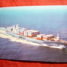 Ilustrata - Nave - Vas Container Israel Zim Haifa, Necirculata, Fotografie