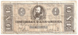 SUA USA 1 DOLAR DOLLAR CONFEDERATE 1864 U COPIE