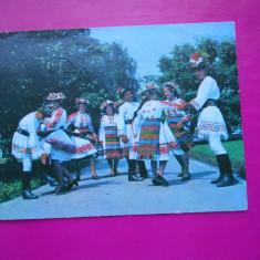HOPCT 20822 DANS POPULAR DIN SIEUT -JUD BISTRITA NASAUD [CIRCULATA] - Carte Postala Transilvania dupa 1918, Printata