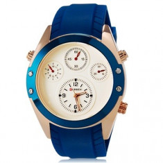 CEAS ORIGINAL CURREN M8141 BLUE Ceas military barbatesc - Ceas barbatesc Curren, Quartz