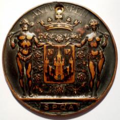 5.236 MEDALIE BELGIA SPQA ANTWERPEN ANVERS EXPOZITIE 1930 71mm bronz, Europa