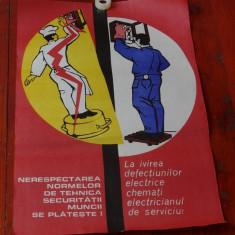 Afis protectia muncii - Imprimea de vest Oradea !!! - Reclama Tiparita