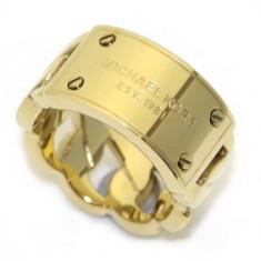 Inel MICHAEL KORS - Placat Cu Aur - Marime M / 7 - Inel placate cu aur