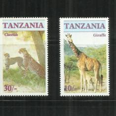 F 101 FAUNA - TANZANIA - SERIE NESTAMPILATA - Timbre straine