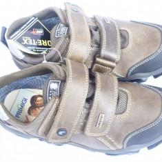 Adidasi baieti, din piele, PRIMIGI - ITALIA, Outlet - Adidasi copii, Marime: 36, Culoare: Maro, Piele naturala
