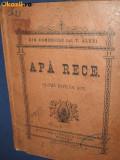 CARTI ROMANIA vechi4. Carte veche romaneasca-Teatru- Th. Alexi- Apa Rece- 1903