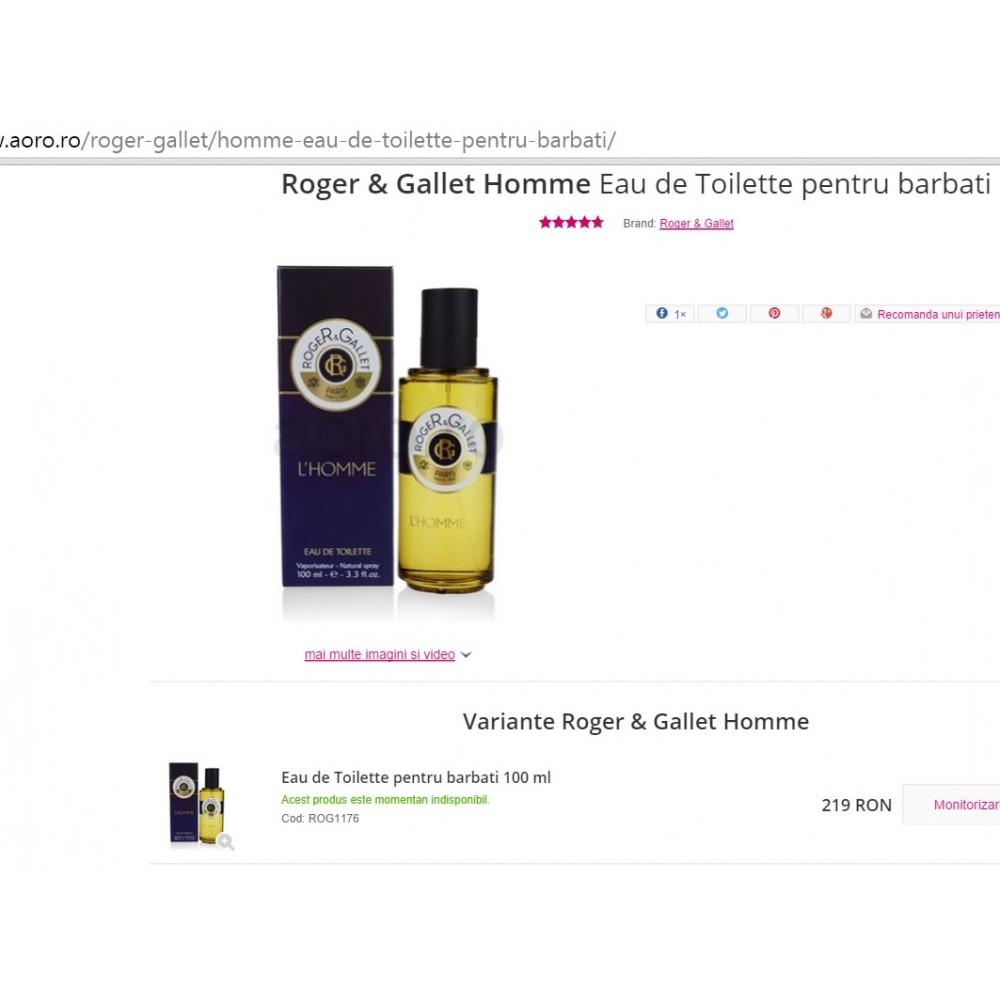 Parfum Original Roger Gallet Homme Eau De Toilette Pentru Barbati