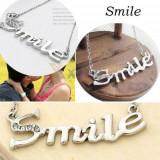 Pandantiv / Colier / Lantisor - CUVANTUL SMILE - - Pandantiv fashion