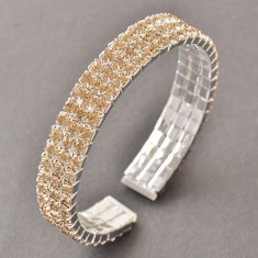 Bratara placata cu aur 14K; marime reglabila, 1.2 cm latime - Bratara placate cu aur