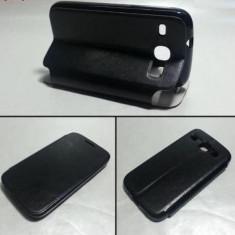Husa Samsung Galaxy Express 2 G3815 G386F Flip Case Black - Husa Telefon Samsung, Negru, Piele Ecologica, Cu clapeta, Toc