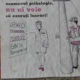 Vintage - Afis  protectia muncii - grafica deosebita!!!
