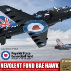 Kit constructie si pictura avion RAF Benevolent Fund BAE Hawk - Set de constructie Airfix