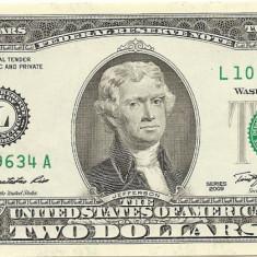 Statele Unite (SUA) 2 Dolari 2009 ( L - San Francisco CA ) P-New UNC !!! - bancnota america