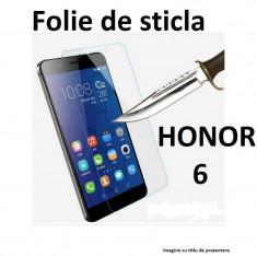 FOLIE de STICLA securizata Huawei HONOR 6, 0.33mm, 2.5D, 9H tempered glass - Folie de protectie Huawei, Anti zgariere