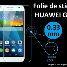 FOLIE STICLA securizata Huawei Ascend G7, 0.33mm, 2.5D, 9H tempered glass antisoc - Folie de protectie Huawei, Anti zgariere