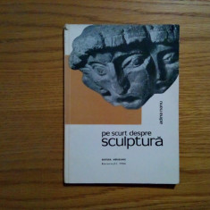 Pe Scurt Despre SCULPTURA - Adina Nanu - 1966, 92 p.; tiraj: 6000 ex. - Carte sculptura