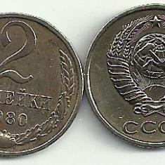 RUSIA URSS 2 COPEICI KOPEICI KOPEIKI 1980 [2] livrare in cartonas, Europa, Cupru-Nichel