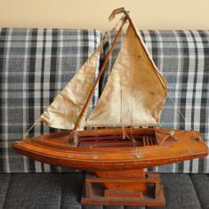 Barca veche mare, confectionata manual din lemn. 60cm (Corabie cu panze) - Macheta Navala