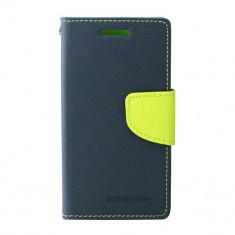 Toc My-Fancy Samsung Galaxy Trend Lite2/Ace NXT Albastru/Lime - Husa Telefon Atlas, Textil
